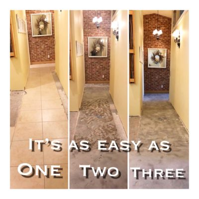 A Successful Mesa Dust Free Tile Removal Before and After Job