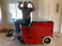 DustSharkz employee for a Phoenix Tile Removal Job