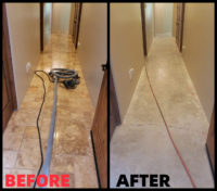 A before after shot of a dustless tile removal job in scottsdale
